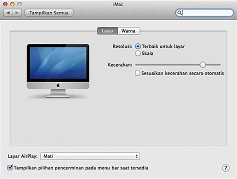 Menilkan Layar Macbook Ke Layar Tv Dan Monitor Pc komputer apple pemecahan masalah pada di layar