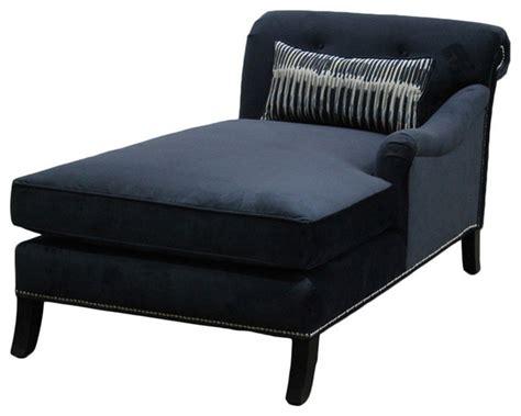 Navy Blue Velvet Chaise Lounge Jar Designs Philippe Navy Velvet Right Chaise