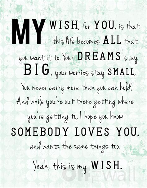 graduation songs for my daughter my wish lyrics by rascal flatts 11x14 print 3 color