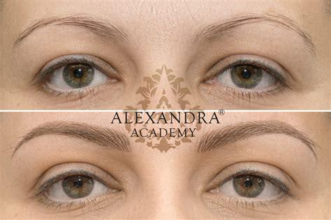 tattoo eyebrows hair strokes hairstroke eyebrow permanent makeup by alexandra patkos