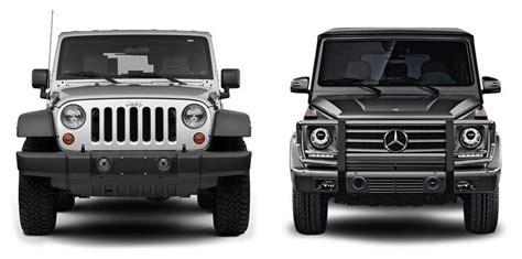 jeep wagon mercedes auto site compares jeep wrangler vs mercedes g wagon