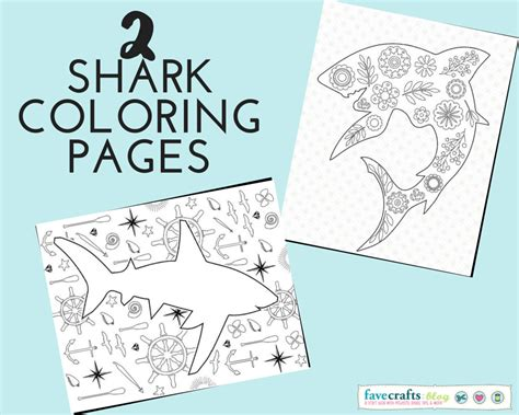 sharks a coloring book books 2 shark coloring pages for shark week favecrafts