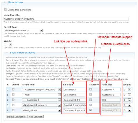 drupal theme links system main menu nodesymlinks drupal org