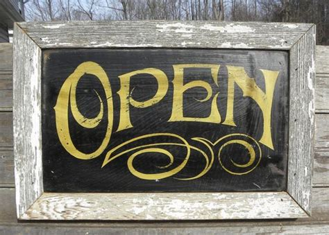 antique signs open sign painted faux vintage wooden sign
