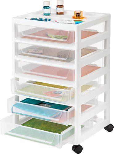 iris 6 drawer cart iris 6 drawer scrapbook storage cart with organizer top