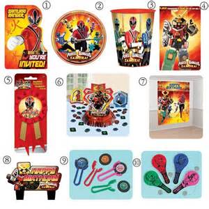 Power Rangers Decorations by Power Ranger Supplies Birthday