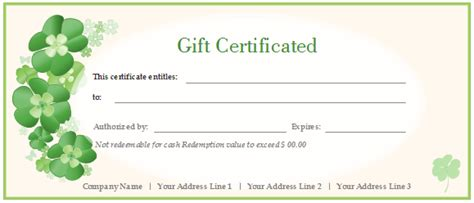 what is the best gift certificate template in word 2007
