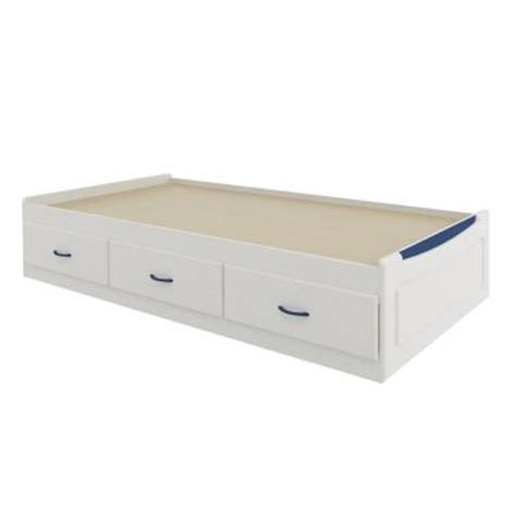 Home Depot Bed Storage by Ameriwood Mates Size Storage Bed In White With