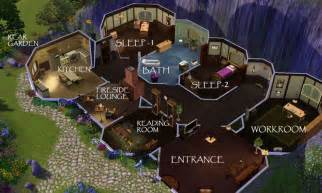 Hobbit Hole Floor Plan by Hobbit Hole Plan By The Look Of It From Sims 3 Who Said
