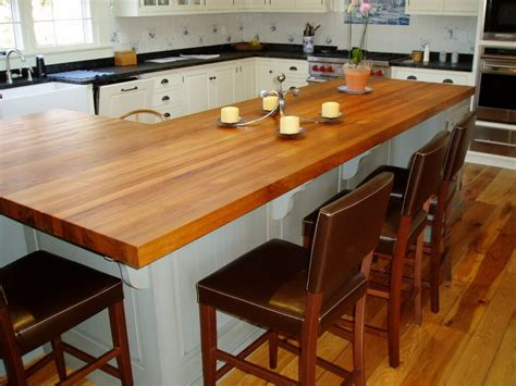 t shaped kitchen island with wooden countertop home edge grain wood countertops and butcher blocks brooks custom