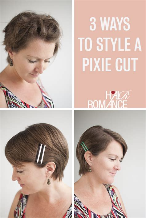 how to style your hair while a pixie grows out 3 ways to style a pixie cut hair romance