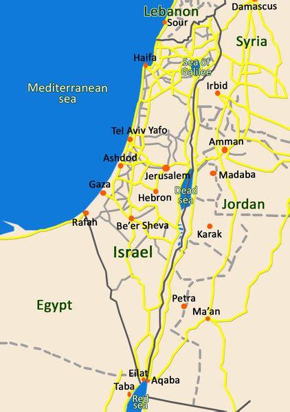 printable map israel israel map design art print by efratul society6