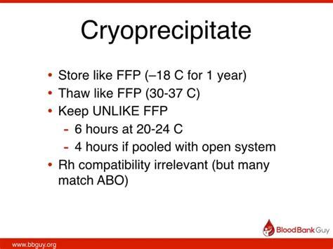 lifestream blood bank 019 cryoprecipitate with joe chaffin blood bank