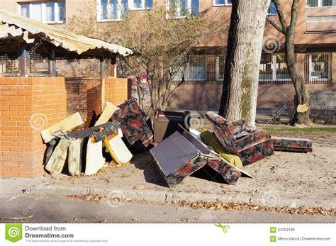Furniture Apartment Dumpster Furniture Waste Editorial Stock Photo Image 64352183