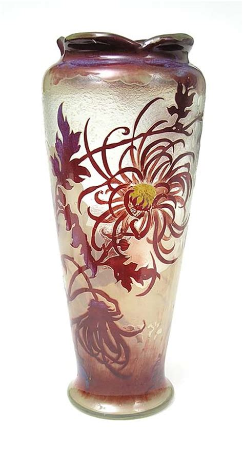 Chrysanthemum Vase by Chasenantiques Glass Gall 233 Galle Chrysanthemum Vase