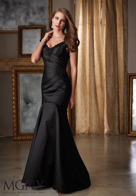 Satin Evening  Ee  Dress Ee   Morilee