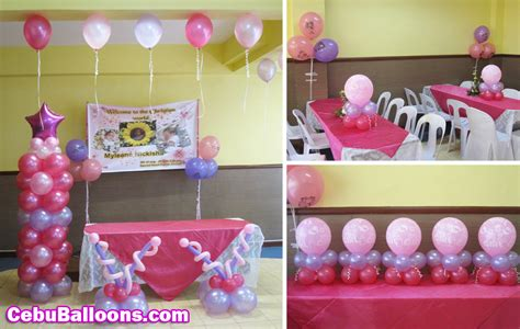 Balon Sablon Pink Souvenir Wedding 1 balloon decorations for christening favors ideas
