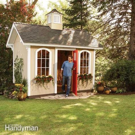 how to build a backyard storage shed how to build a cheap storage shed the family handyman