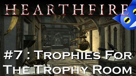 Hearthfire Trophy Room by Let S Play Skyrim Hearthfire 7 Trophies In The