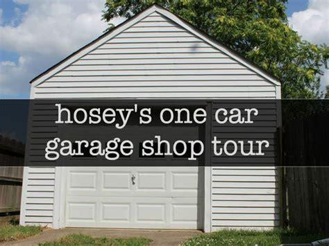 one car garage workshop humble one car garage shop tour video by patrick