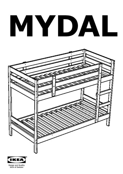 Mydal Bunk Bed Review Mydal Bunk Bed Frame Pine Ikea United Kingdom Ikeapedia