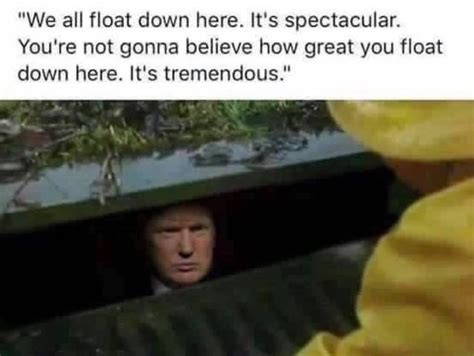 donald trump is pennywise manteresting