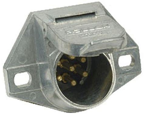 pollak heavy duty 7 pole pin trailer wiring socket