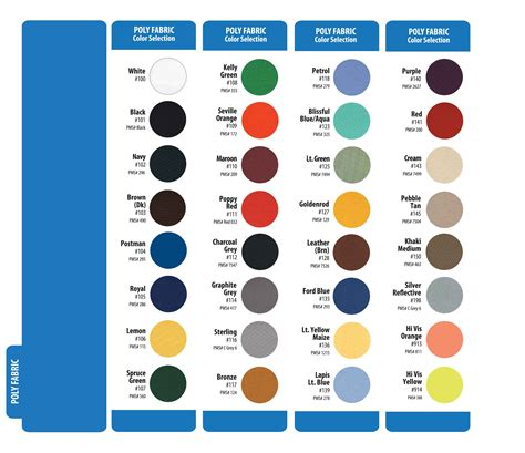 the color badge color charts penn emblem company