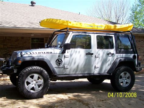 jeep kayak roof rack for freedom top to carry kayaks page 3 jk