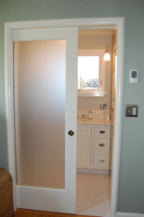Frosted Glass Doors Bathroom Frosted Glass Pocket Door Door Styles