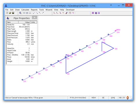FHC : Hydraulic calculation project examples   FHC   Hydraulic analysis software