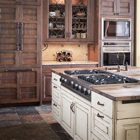 Distressed Wood Kitchen Cabinets by Colorado Rustic Kitchen Gallery Jm Kitchen Denver