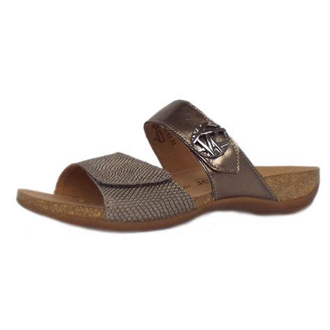 gabor comfort range gabor sandals shani women s slip on sandal bronze