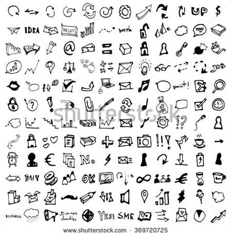 doodle significado vector doodle icons universal set stock vector 369720725
