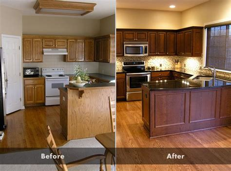 refinishing kitchen cabinets before and after 17 best ideas about oak cabinet kitchen on pinterest oak