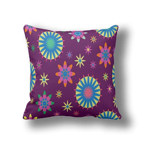 cheap pillows for couch ikathome purple floral fall pillows boho flower decorative
