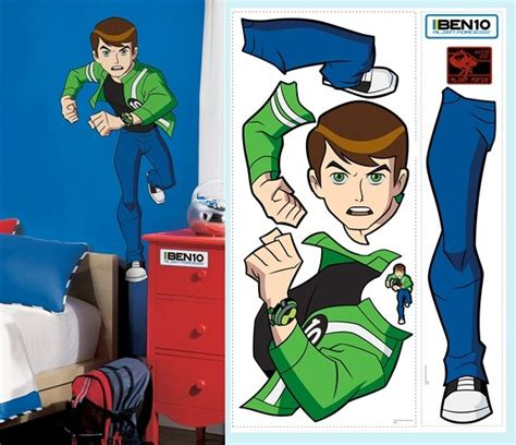Ben 10 Wall Stickers ben 10 alien force giant wall sticker the frog and the