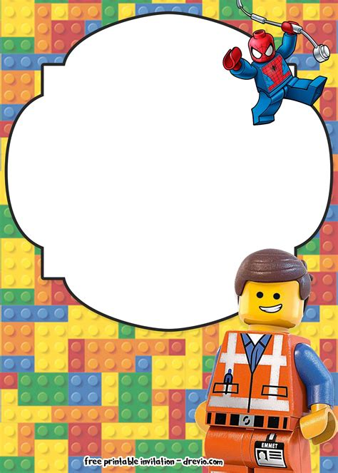 Free Lego Movie Invitations For Birthday Free Invitation Templates Drevio Lego Birthday Invitation Template