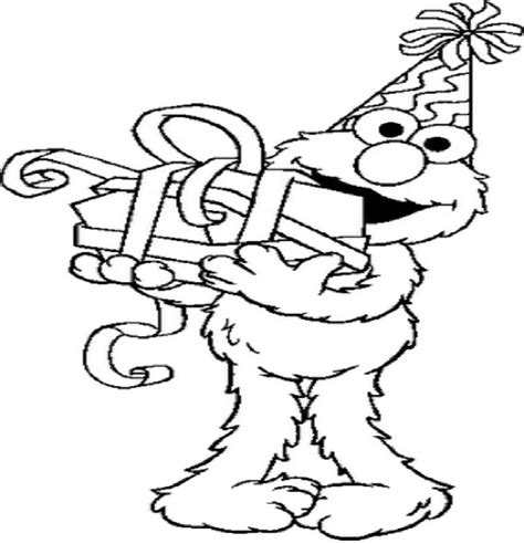 Download Disney Birthday Coloring Pages At Resolution Elmo Elmo Birthday Coloring Pages