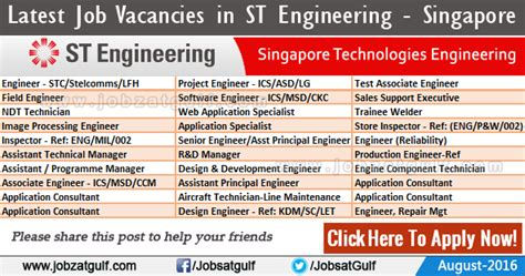 layout engineer jobs singapore job vacancies in st engineering singapore technologies