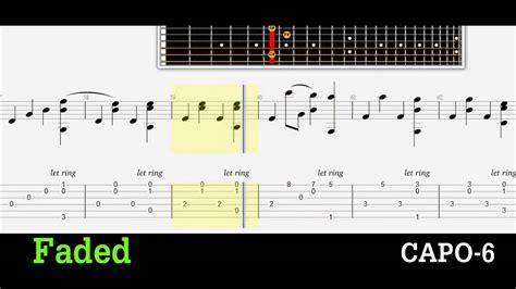 alan walker faded chord guitar tab faded alan walker youtube