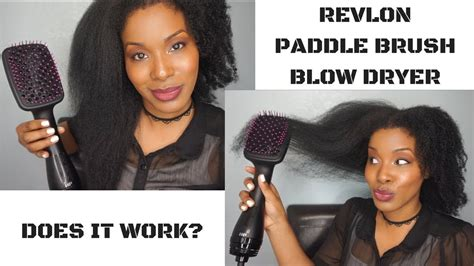 Does A Hair Dryer Work As A Heat Gun revlon one step paddle brush dryer does it work