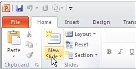 add new slides in powerpoint 2010 how to insert a new title and content slide in powerpoint