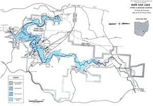burr oak lake fishing map southeast ohio go fish ohio