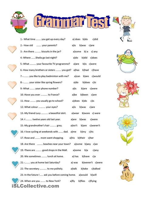 Grammar Land Worksheets Answers