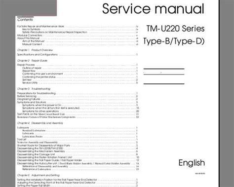 Epson Printer Tm U220 Manual epson tm u220 series service manual service manuals
