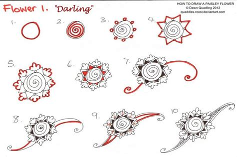 doodle flowers tutorial how to draw a flower dr