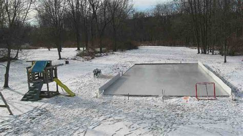 backyard rink builder beginner s luck