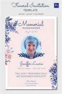 funeral card templates 15 funeral invitation templates free sle exle