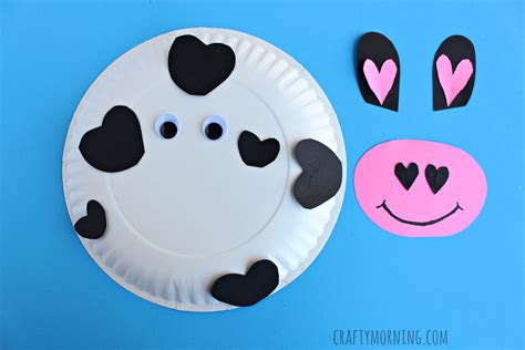 cow paper plate craft paper plate cow craft for crafty morning